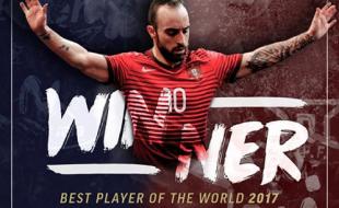 Ricardinho é o melhor jogador de futsal do mundo pela quinta vez.